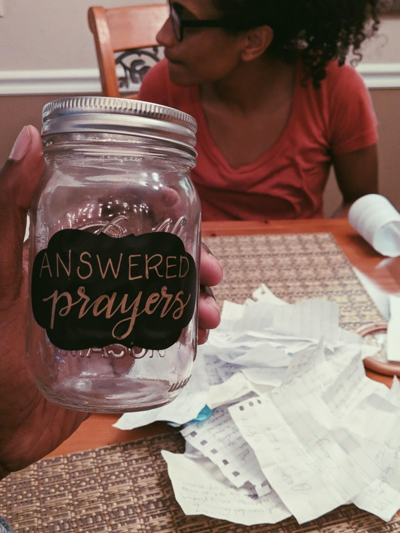Our Answered Prayer Jar